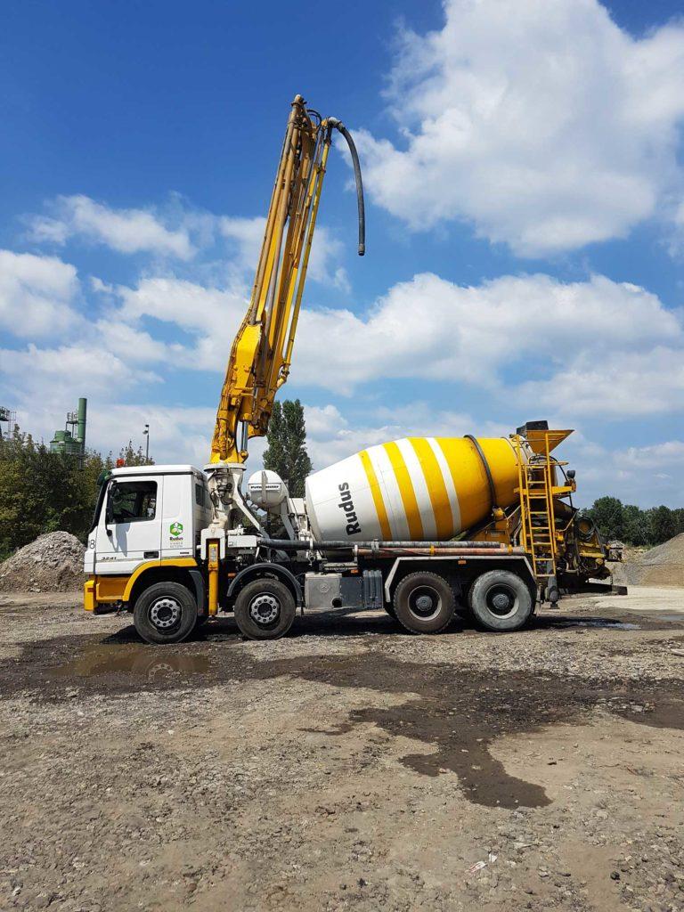 Betonszállítás, mixer beton, Beton - Dimenzió